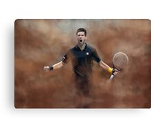 Novak Celebration Canvas Print