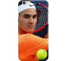 Roger Federer in action iPhone Case/Skin