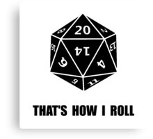20 Sided Dice Roll Canvas Print