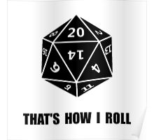 20 Sided Dice Roll Poster
