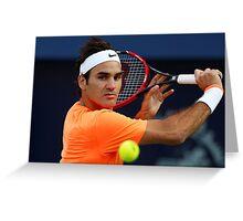 Roger Federer in action Greeting Card