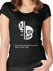 Sans & Papyrus Women's Fitted Scoop T-Shirt