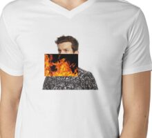 "Dillon Francis ""This Mixtape is Fire"" Cheap Mens V-Neck T-Shirt"