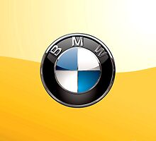 BMW 3D Badge 2.0 on Yellow by Serge Averbukh