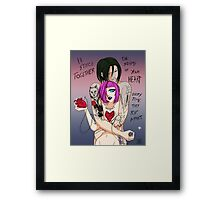 Mend Your Heart Framed Print