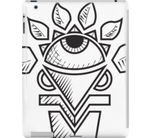 Flower eye white iPad Case/Skin