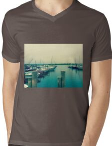 East Hampton Bay Boating - Summer Style Mens V-Neck T-Shirt
