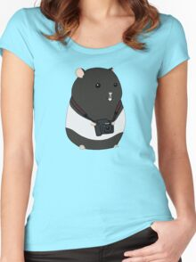 Hamster Photographer Women's Fitted Scoop T-Shirt