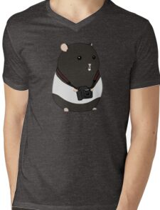 Hamster Photographer Mens V-Neck T-Shirt