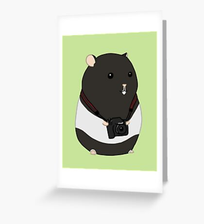 Hamster Photographer Greeting Card
