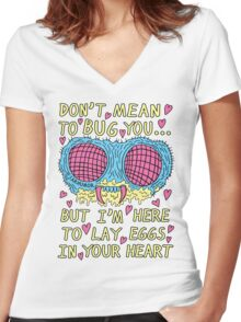 Bug Love Women's Fitted V-Neck T-Shirt
