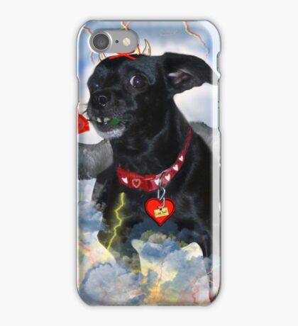 The Devil Cupid Dog That Came From Outer Space iPhone Case/Skin