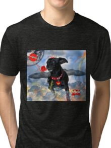 The Devil Cupid Dog That Came From Outer Space Tri-blend T-Shirt