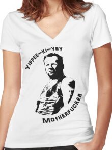 Die Hard Women's Fitted V-Neck T-Shirt