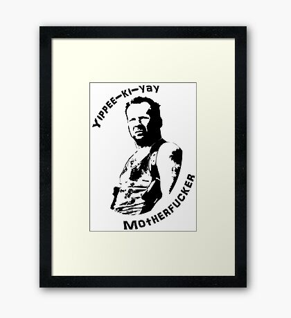 Die Hard Framed Print