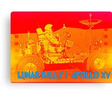 Lunar Rally 1:  Lunar Rover Apollo 15 Canvas Print