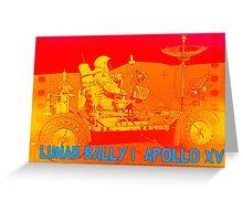 Lunar Rally 1:  Lunar Rover Apollo 15 Greeting Card