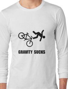 Gravity Sucks Bike Long Sleeve T-Shirt