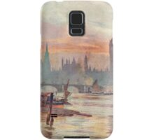Westminster at Dusk in 1891  Samsung Galaxy Case/Skin