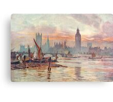 Westminster at Dusk in 1891  Metal Print