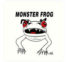 Monster Frog Design Art Print
