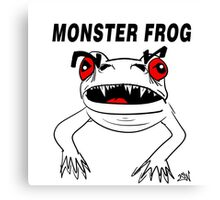 Monster Frog Design Canvas Print