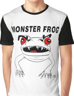 Monster Frog Design Graphic T-Shirt