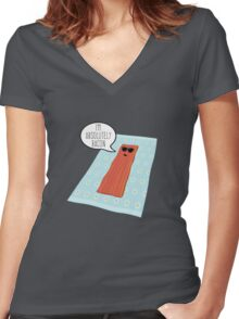 Crispy Women's Fitted V-Neck T-Shirt