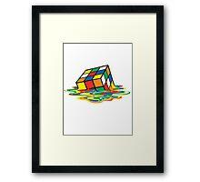Rubik cube art Framed Print