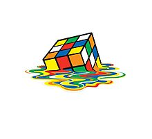 Rubik cube art Photographic Print