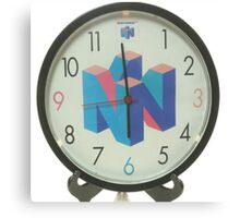 Nintendo Clock Canvas Print