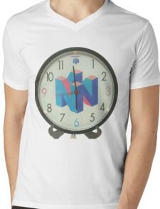 Nintendo Clock Mens V-Neck T-Shirt