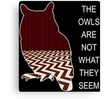 THE OWLS ARE NOT WHAT THE SEEM Canvas Print
