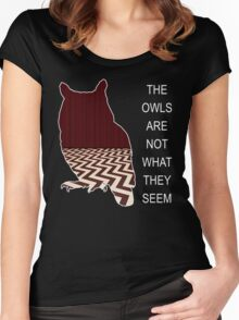 THE OWLS ARE NOT WHAT THE SEEM Women's Fitted Scoop T-Shirt