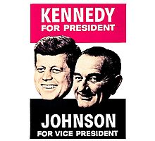 KENNEDY/JOHNSON Photographic Print