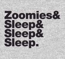 Greyhounds - Zoomies & Sleep & Sleep & Sleep by muttongrass