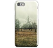 Stark Hamptons Field as Winter Approaches iPhone Case/Skin