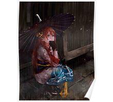 Kagura in the rain Poster