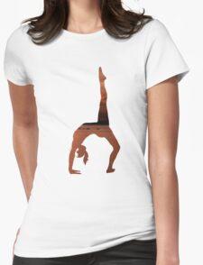 Yoga - One Legged Wheel Womens Fitted T-Shirt