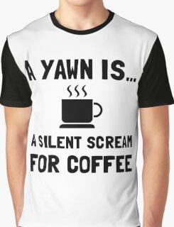 Yawn Coffee Graphic T-Shirt