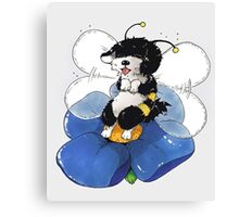 Havanese Bumble Bee Canvas Print