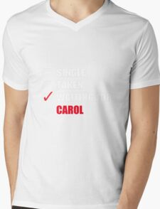 Waiting For Carol Mens V-Neck T-Shirt