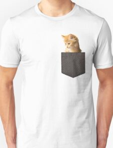 cute ginger cat in pocket  T-Shirt