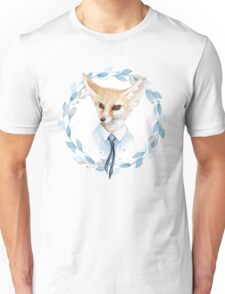Fox and floral wreath. For cards Unisex T-Shirt