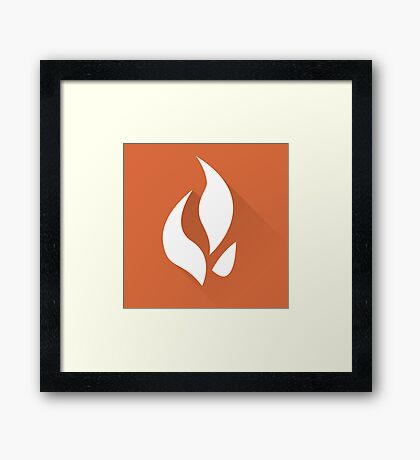 The Orange Flame Framed Print