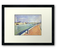 Georges Seurat The Channel of Gravelines, Petit Fort Philippe Framed Print