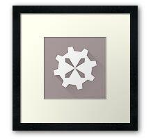 The Silver Cog Framed Print