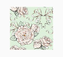 seamless pattern with roses and ribbons, wedding theme Classic T-Shirt