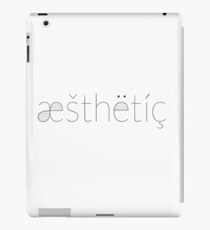 Monochrome Aesthetic Print iPad Case/Skin