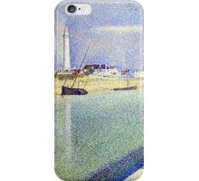 Georges Seurat The Channel of Gravelines, Petit Fort Philippe iPhone Case/Skin